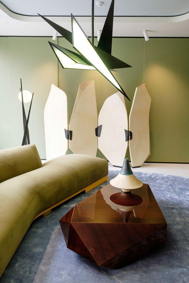 Verdant Vision Achille Salvagnis New Furniture Showcase Is A Meditative Colour Study