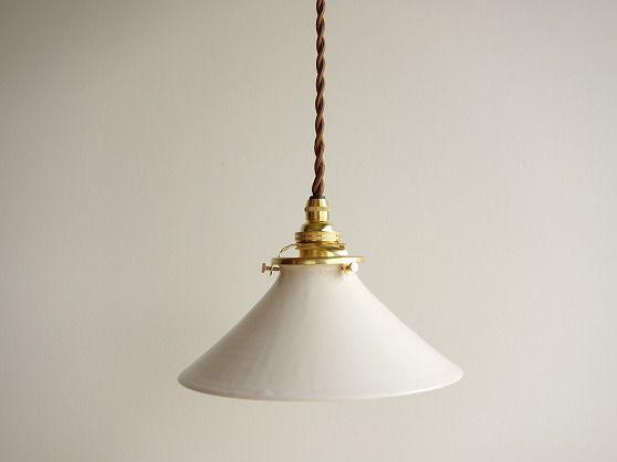 白釉のランプシェード - 日用日