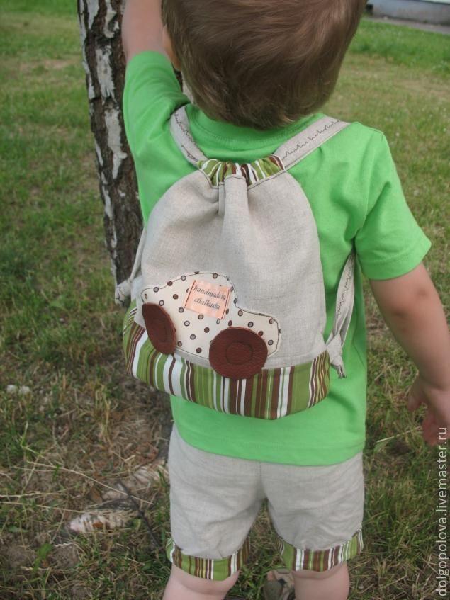 Детский рюкзак для мальчика от 2 лет своими руками