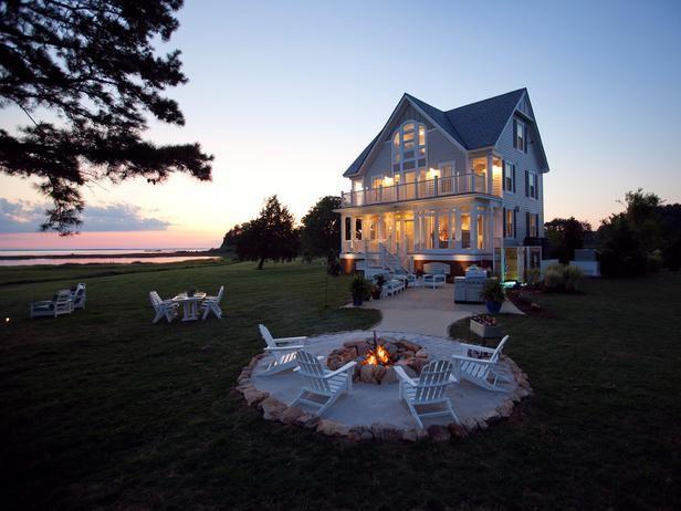 home sweet homeFire Pits, Dreams Home, Beach House, Outdoor, Dreams House, Fire Pit Area, Dream Houses, Firepit, Backyards