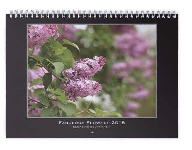 11x17 Wall Calendar, 2018 Calendar, flower photography, macro, great gift, Fabulous Flowers, floral decor, standard size, fine art photos by NaturalBeautybyE on Etsy