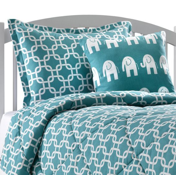 Turquoise Dorm Comforter | Twin XL Bedding for Dorm – American Made Dorm & Home