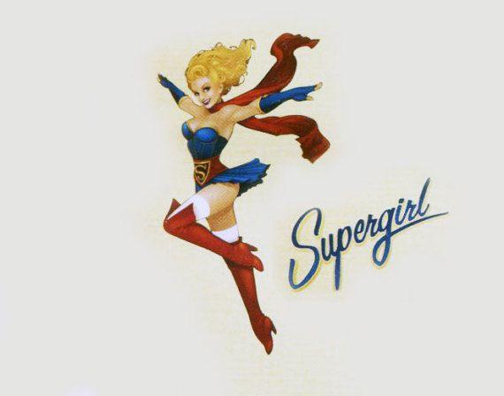 Sexy Supergirl Costume Pattern Bustier Spats Belt Mini Skirt Panties Sash Simplicity W0112 DC Bombshells Superhero Woman Sewing Pattern by PrettyPatternShop