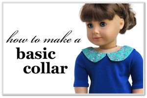 Pattern hack - Add a cute peter pan collar to your dolls tee! Find it at Pixie Faire.