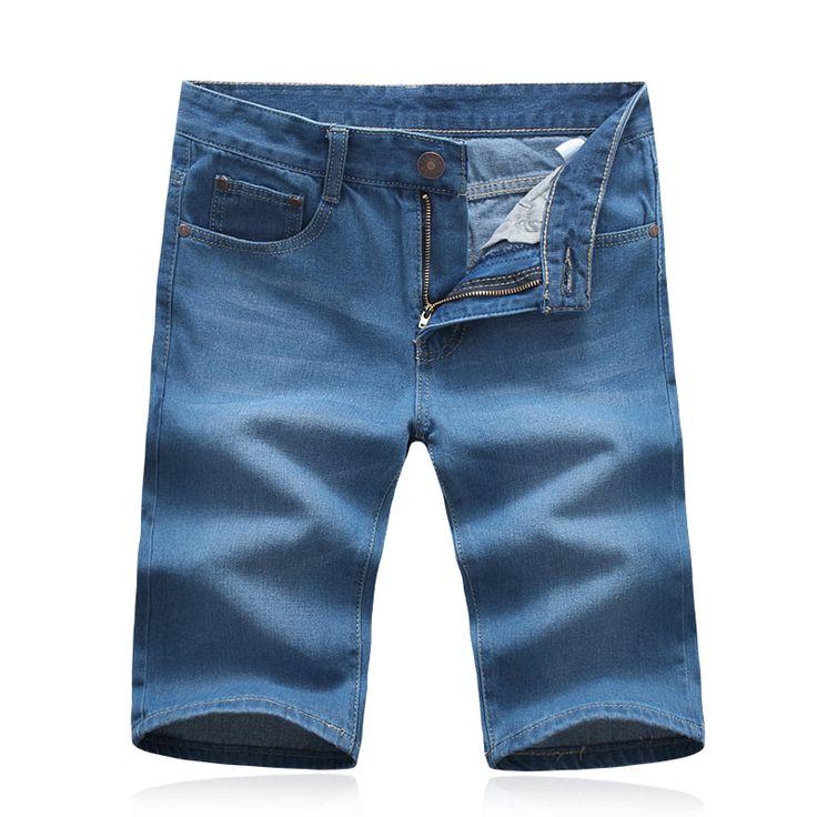 Hot sale 2016 New summer Men's short jeans Male Large size light blue denim shorts Size 28-42