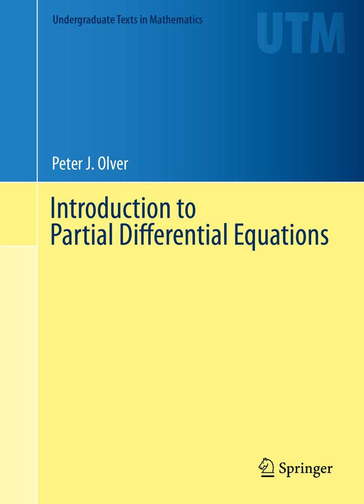 Resultado de imagen de introduction to partial differential equations