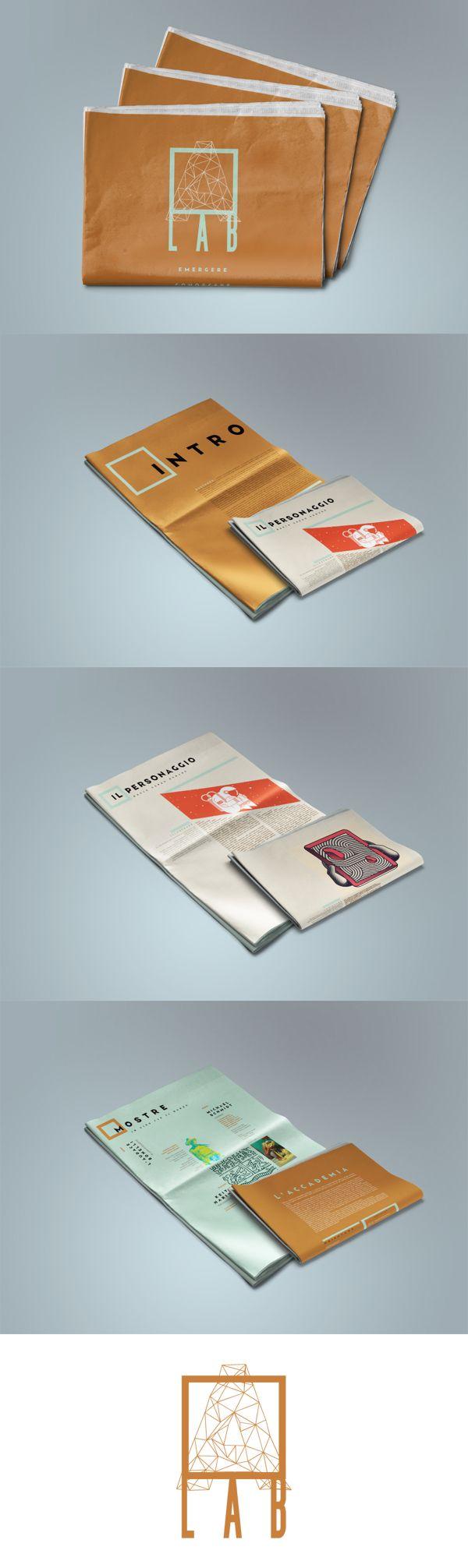 A Lab | Tabloid Editorial Design, Graphic Design, Typography  Marta Coppola