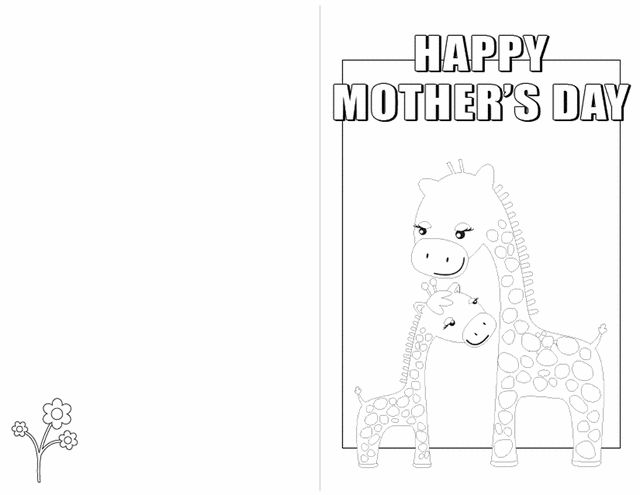 Homemade Mother's Day coloring pages and cards for kids.