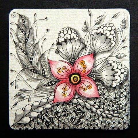 """Lily's Tangles: """"It's a String Thing"""" #80 - #81 and other weekly tiles"""