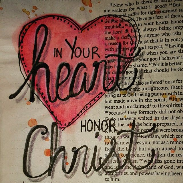 """In your heart honor Christ! 1 Peter 3:15 More journaling in the airport. ..was struck by the """"in your heart"""" portion of this.  Honor Him in the part of me that is invisible...so that my visible actions flow from an honorable place. Honoring Christ in my heart will lead to others seeing Him in how I treat them! Have ablessed day! #illuminatedjournaling #journalingontheroad"""
