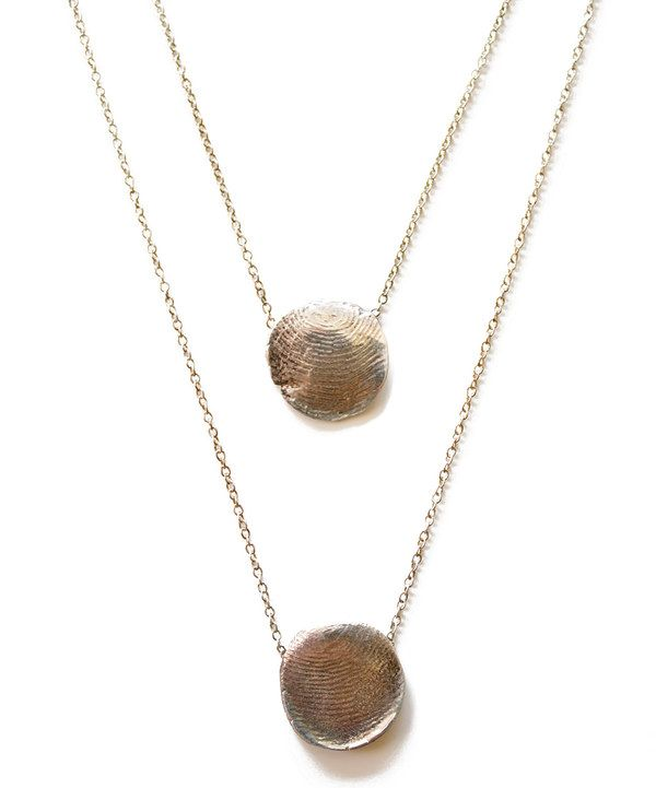 Take a look at this Sterling Silver Personalized Fingerprint Double Necklace on zulily today!