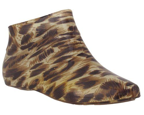 Capelli New York Shiny Leopard Printed Ladies Pixie Body SlipOn Jelly Shoe Natural Combo 7 >>> Check out this great product.
