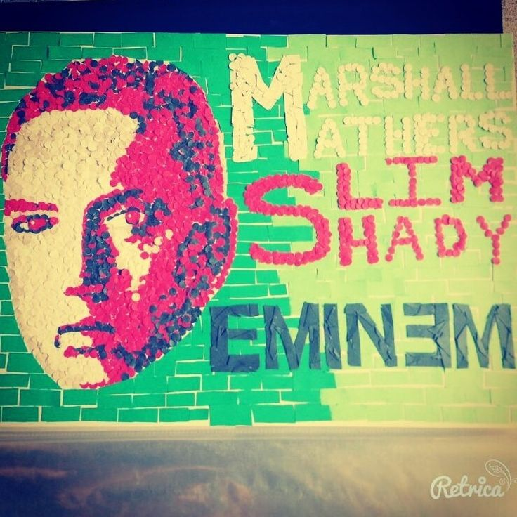 #eminem #marshall_mathers #slim_shady #mosaic #art #colors #ebdaa3 #long_time #rap #hiphop #respect #retrica #new