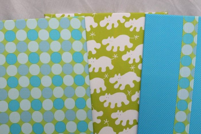 """Set of 3 - """"Hippo Splat"""" Large Funky Fabric Covered Canvases"""