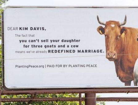 LGBT Group Burns Kim Davis With Billboard in her Hometown - Yahoo