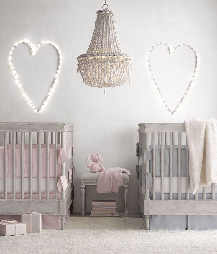 a classic crib in vintage grey. a sweet retreat for a baby boy or girl.