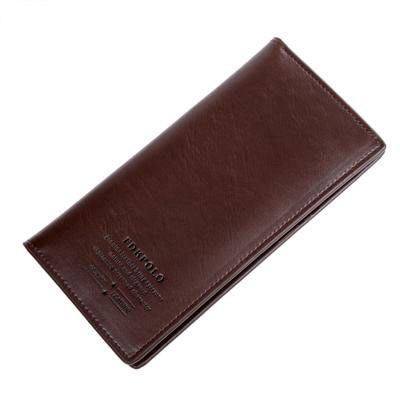 FEIDKAPOLO Brand Bag Men Wallet Leather Cluth Bag Long Wallets Man Coin Purse Passport Holder Mens Credit Card Holder Men Purses
