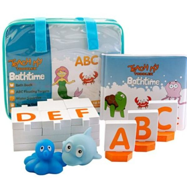 Baby Toddler Bath Book Educational Toy Alphabet Learning Bath time Fun