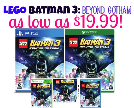 LEGO Batman 3: Beyond Gotham for PS4, PS3, Wii, Nintendo DS3, Xbox + Vita As Low As $14.99 (Reg. $19.99 + Up)!