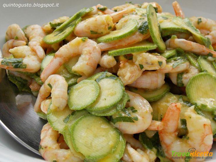 Insalata di gamberetti e zucchine  #ricette #food #recipes
