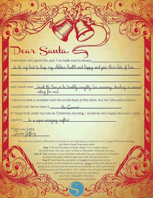 Letter to santa simple favorites pinterest