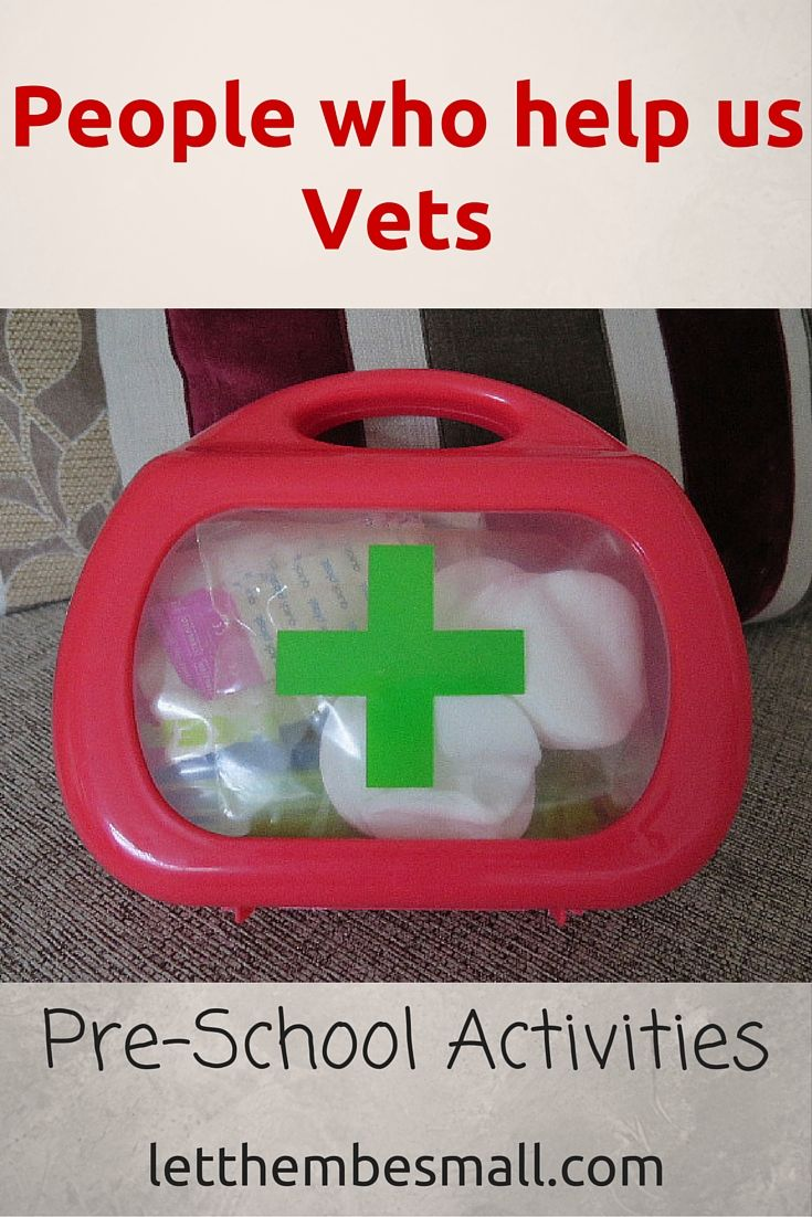 ideas for a People who help us topic - Vets activities for pre schoolers
