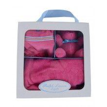 Ralph Lauren // Ralph Lauren - Bubble, Hat and Bear Gift Set Ages 3mths to 6mths/ - Cerise