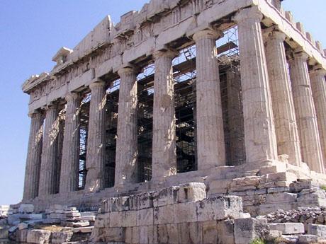 De Parthenon op de Akropolis in Athene blijft indrukwekkend