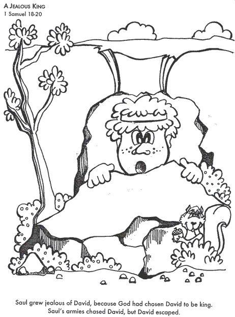 17 beste afbeeldingen over bible david op pinterest for Bible coloring pages king saul