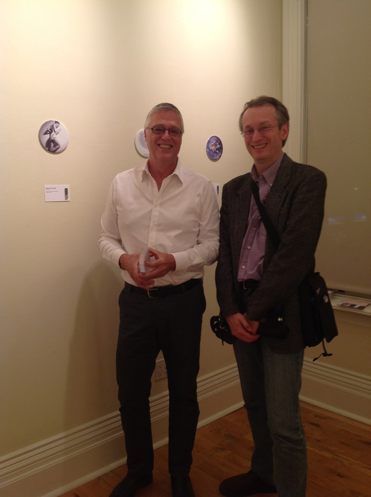 Visiting with John Paul Robinson at the launch of his Amber Archive exhibit during Nuit Blanche in Toronto.