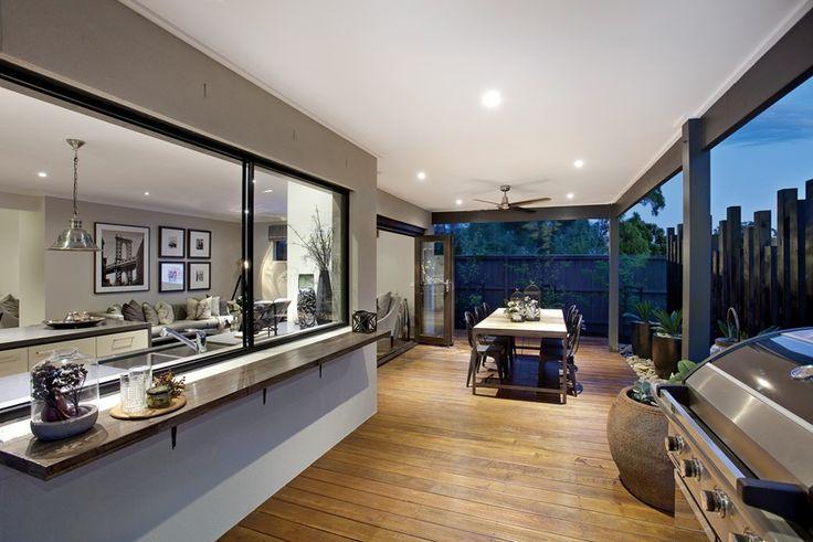 House Design: Montague - Porter Davis Homes (bar outside kitchen and artwork in living area)