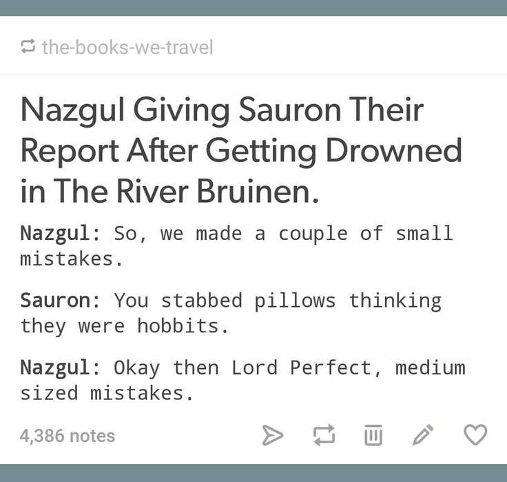 I don't envy the Nazgul ...