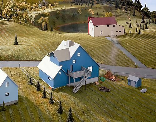 James Casebere - Landscape with Houses (Dutchess County, NY) #7 (2010)