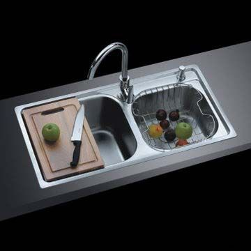 Stainless Steel Double Bowl 70 30 Overmount Sink | 8143 Qualità In Acciaio  Inox Doppio Lavello