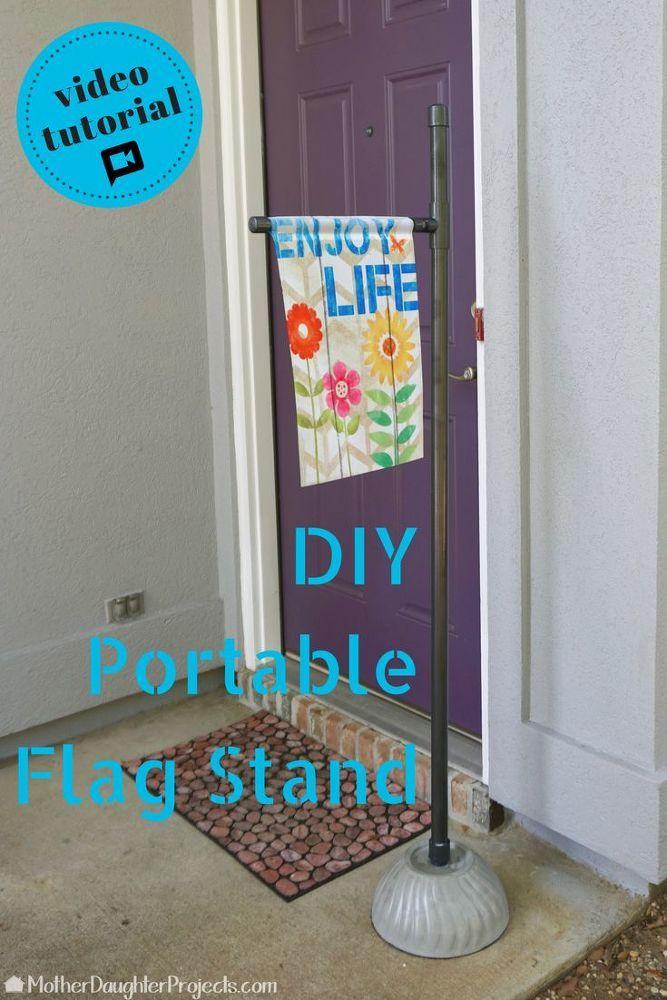 Portable Pvc And Concrete Garden Flag Stand Flag Stand Garden Flag Stand Garden Flag Holder