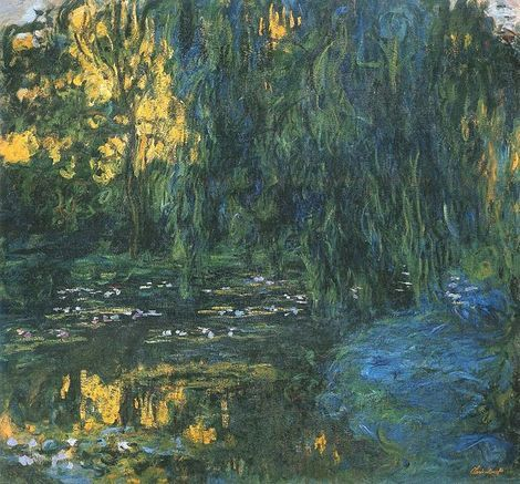 Claude Monet, Water Lily Pond and Weeping Willow on ArtStack #claude-monet #art