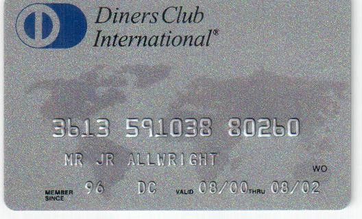 Diners Club International (Diners Club, Sweden) Col:SE-DC-0001