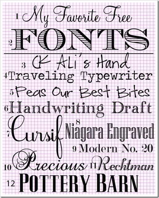 My Favorite Free Fonts downloads