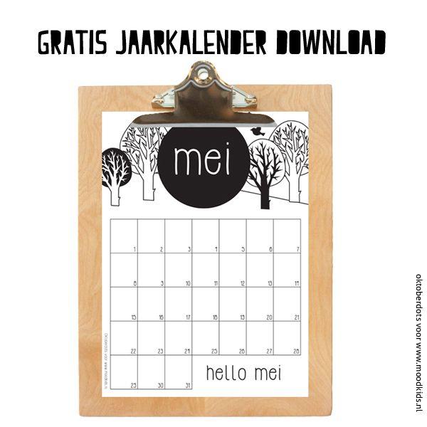 Mei maandkalender om af te drukken - Moodkids | Moodkids