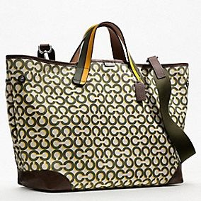 OP ART SHADOW C CANVAS TRAVEL TOTE -- my diaper bag:  Postbag, Canvas Travel, Travel Tote