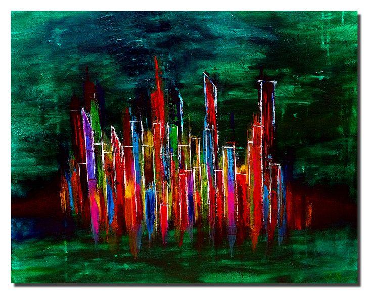 Josh Namm: Paintings: Cityscape #7, Acrylic on Canvas #joshnammpaints #painting #paintings #paintingoftheday #visualarts #art #acrylics #acrylicart #acrylicpaint #artists #cityscapes #abstract #abstractart #abstractacrylic #abstractpainting
