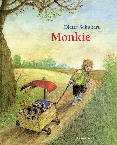 monkie van  schubert - Prentenboek. Alle leeftijden. geen tekst. Laat de leerling zijn eigen verhaal bij de platen schrijven.