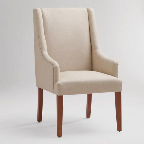 One of my favorite discoveries at WorldMarket.com: Linen Hayden Dining Chair
