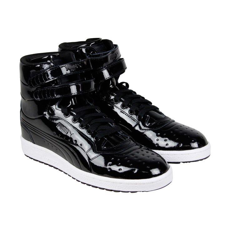 Puma Black Canvas Sport Lifestyle Womens Shoes