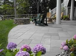Image result for grey slate patio + white patio doors