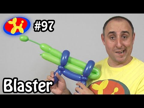 Balloon Revolver Gun, Ballon Pistole, Modellierballon Ballonfiguren weapon Waffe - YouTube