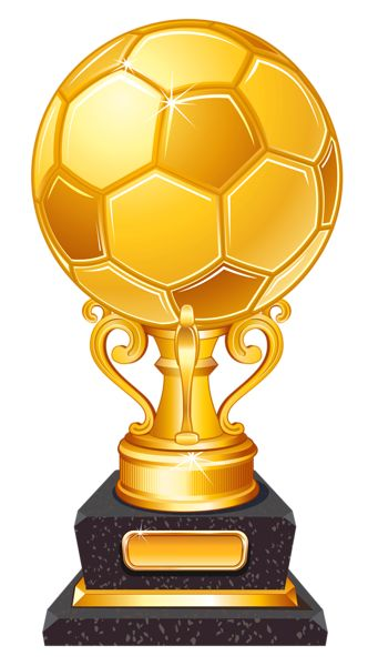 Gold Football Award Trophy Transparent PNG Clipart