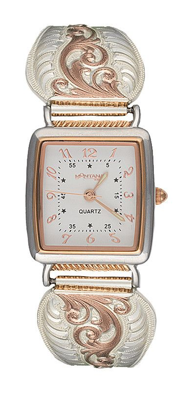 (MSWCH60765RG) Western Rose Gold Filigree Ladies' Expansion Band Watch