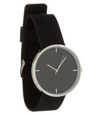 Exclusives New Look Black Silicon Watch #watch #covetme