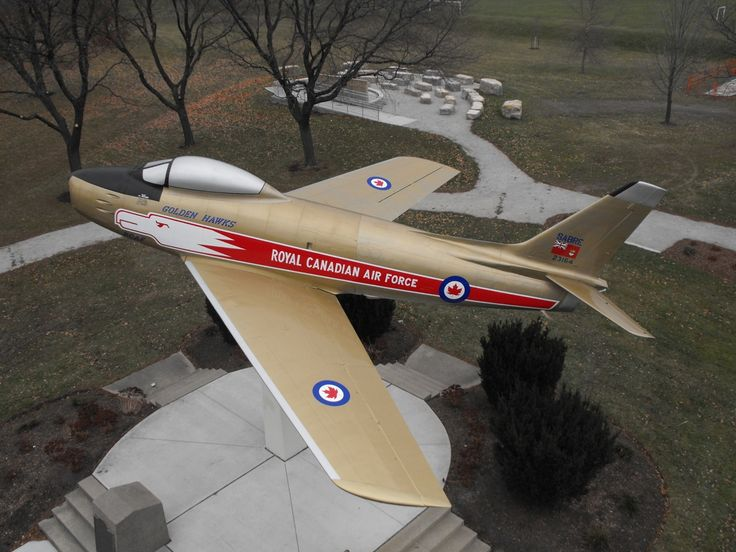 Sarnia's F-86 Sabre fighter jet, one of the original aircraft that flew with the Royal Canadian Air Force's Golden Hawk aerobatic team, has been returned to a place of honour in the city after two years and 4,800 hours of work to bring her back to her full beauty.